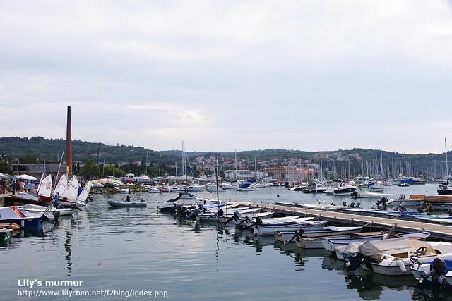 Izola的碼頭處,有風帆跟私人遊艇,光看就覺得很悠閒!
