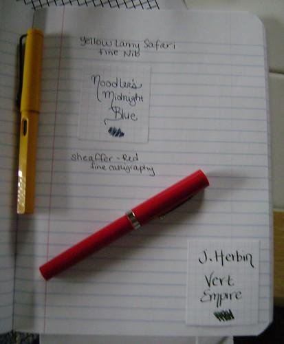 Rhodia Fountain Pen Ink Tracker