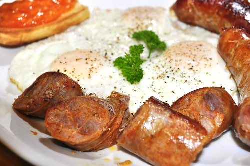 Mmm... Cajun recipe sausage and eggs
