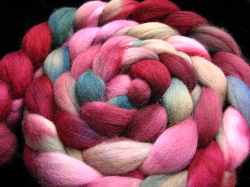 Tiffany - Corriedale Wool Hand Dyed Roving