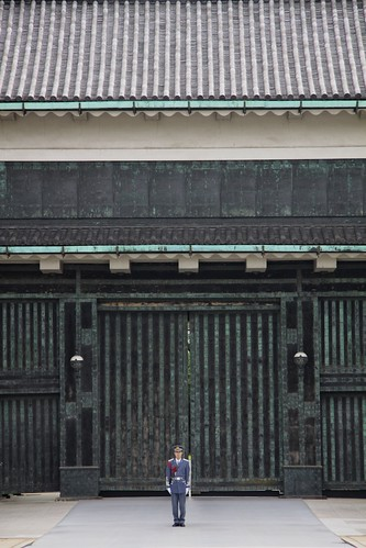 Guard in front of the Imperial Palace, Tokyo