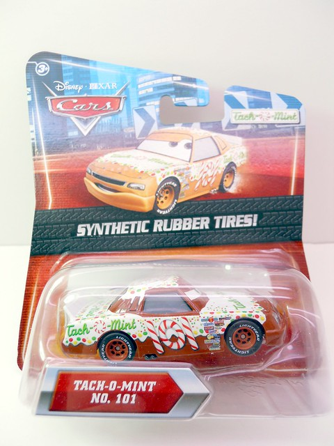 DISNEY CARS KMART COLLECTOR DAY 5 TACH O MINT RACER (1)