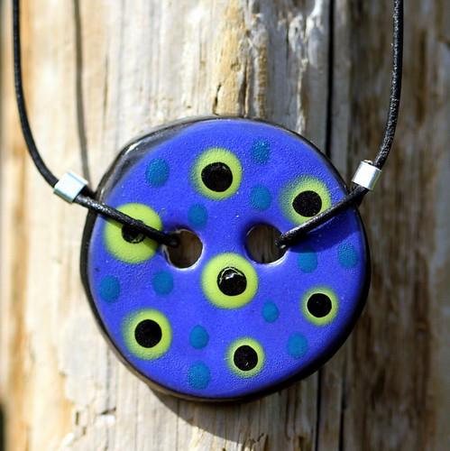 whimsical polkadot pendant