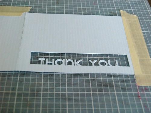 Thank You Card tutorial Step 3