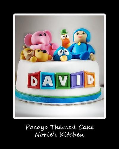 Pocoyo Character Cake