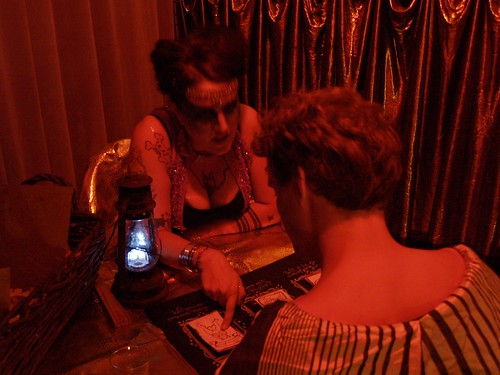 XXX Fortune Telling Tattoo Parlor @ Stranded in the Forbidden City! Painting by 2nd Skin. Photography by Diana Arge.
