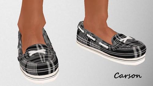 MHOH 52 Duh! Men's Deck Shoes Black Plaid -