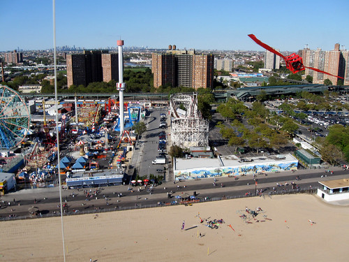 Kite Aerial Photography: AKA Kite Festival at Coney Island.  Photo © Ron's KAP via flickr