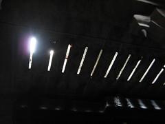 Sunlight peeping through the ceiling