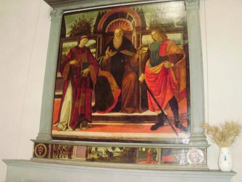 David Ghirlandaio Sant'Antonio Abate contornato Santi Leonardo Giuliano