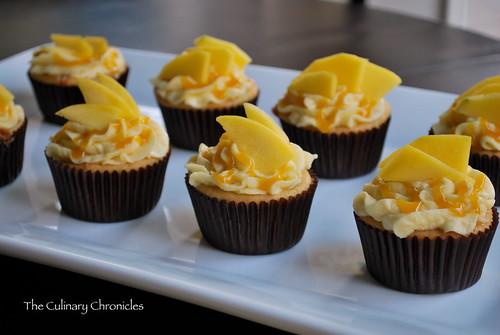 """Mango-licious"" Mango Cupcakes"