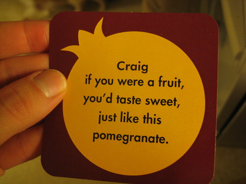 Craig is sweet tasting ;)