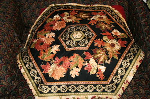 Handmade quilted table decor