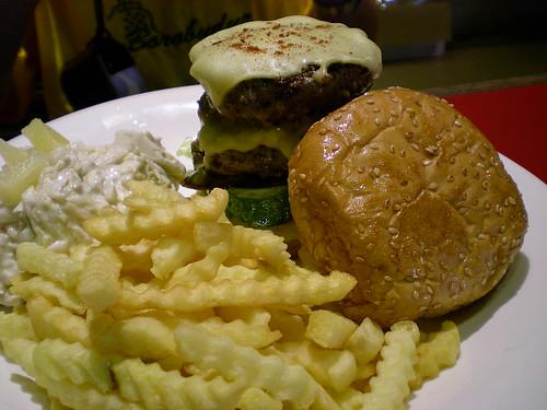 Secret Garden - double cheese burger 1