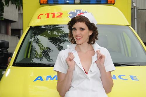 bijna een reclamefoto voor verpleegsters