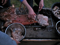 carving the pig at curlew