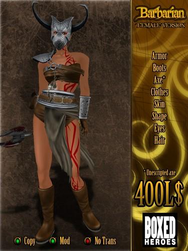 Barbarian Female Avatar Vendor
