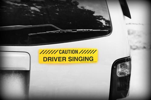 Driver singing