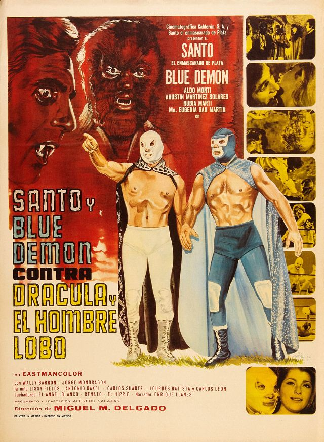 Santos and Blue Demon vs Dracula and Wolfman