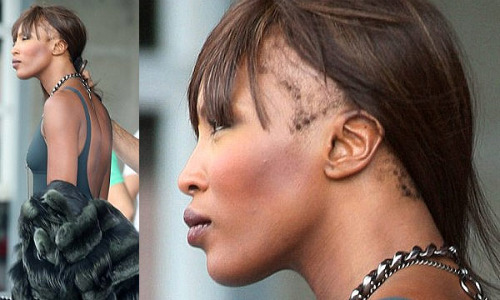 Bald black girl naomi campbell is a bald girl