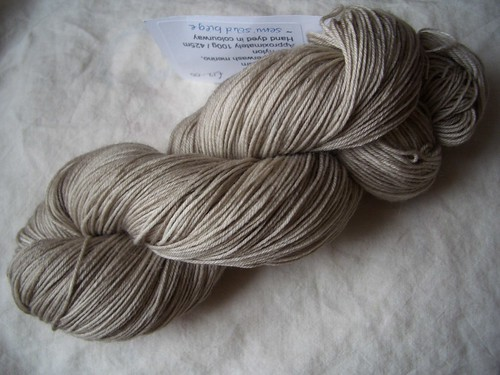 Knitting Goddess - Sock Yarn - Semi Solid Beige