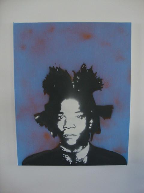 basquiat stencil by tres