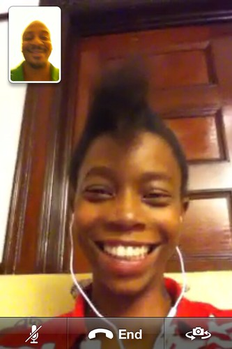 First FaceTime with @corvida