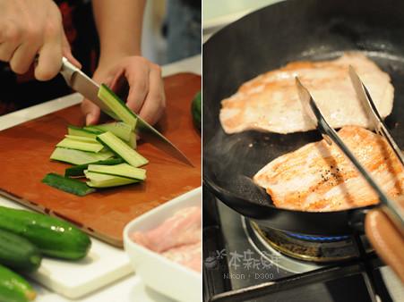 煎煮霜降豬肉