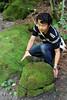Photo:苔の洞門 Mossy rocky path... By