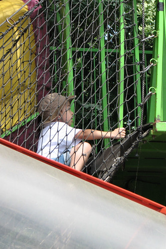 Climbing the rope ladder