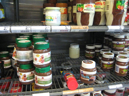 chocolate spread assortment in amsterdam!