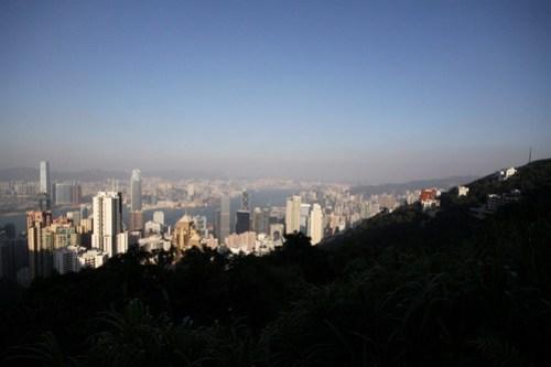 Shadows creep over Hong Kong