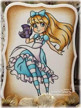 Alice - handmade card detail