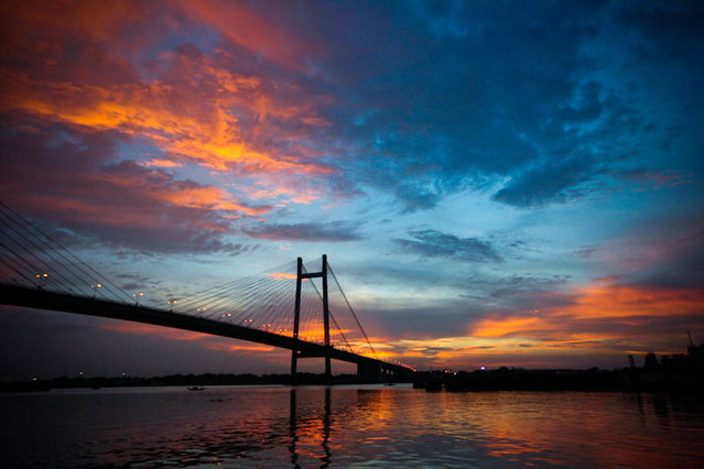 Sunset @ 2nd Hoogly Bridge | Kolkata