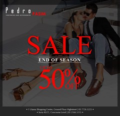 Pedro End of Season Sale