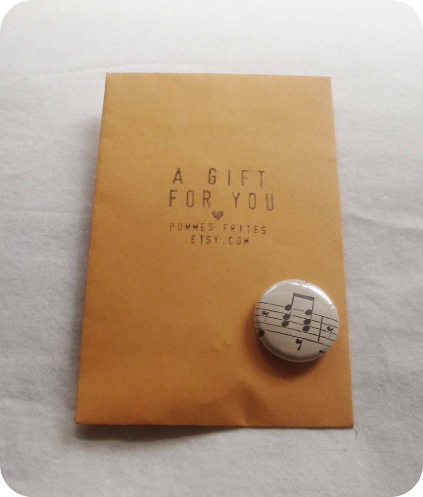 Pommes Frites Vintage Sheet Music Pin