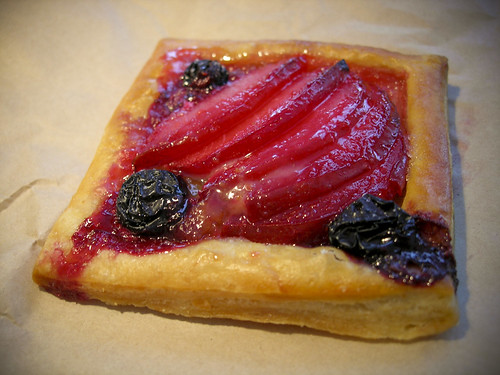 plum and blueberry tart at Knead Patisserie, in the Mission, San Francisco