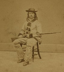 (animated stereo) Buffalo Bill, circa 1870s