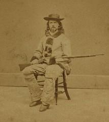 (animated stereo) Buffalo Bill, circa 1870s