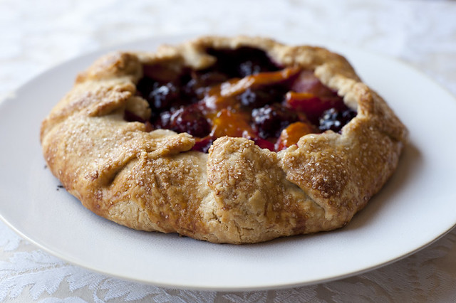 blackberry & apricot galette