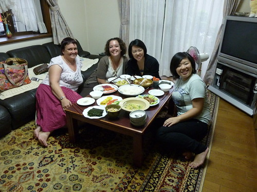 Mum, me, Kumi and Azusa