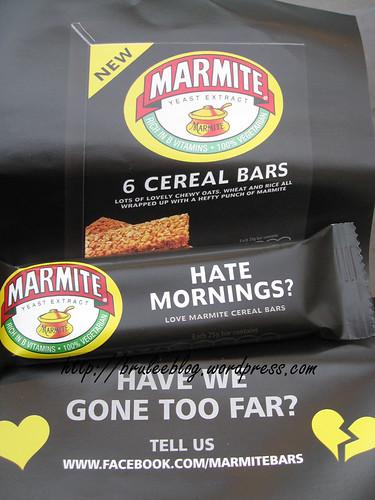 Marmite cereal bar