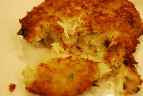 Crab meat cake