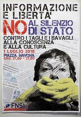 1 Luglio 2010: in piazza e in web per la liberta' d'informazione