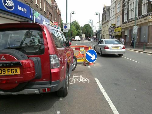 Cycling Hazard in Leytonstone High Road