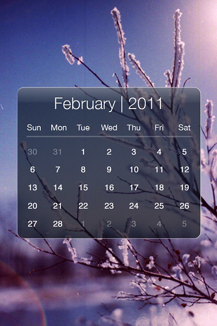 Wallpaper-Calendar-February-2011. Re-sized the images to 640 x 960