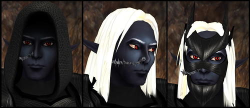male dark elf - head detail