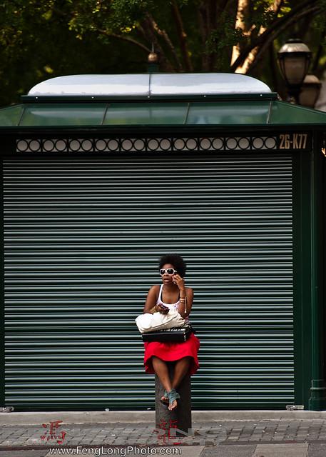 Woman waiting near MARTA station