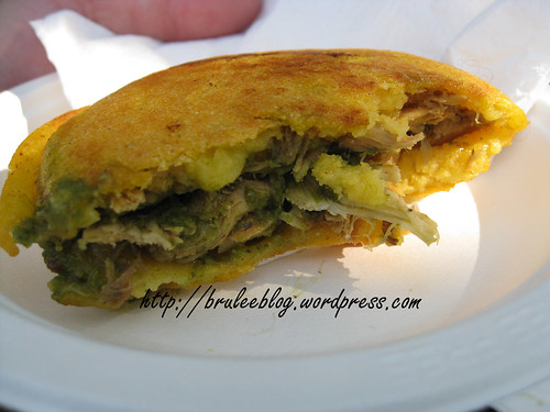 inside the arepa