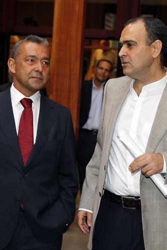 Con el periodista Manolo Mederos